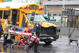 Student Hospitalized After School Bus and Van Crash on Greenpoint Avenue