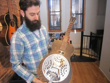 A new vintage guitar shop in the East Village boasts rare, antique guitars.