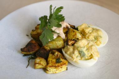 This delicious combination of deviled eggs, sweet, roasted parsnips and chipotle mayo may help cure what ails you.