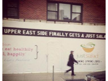 Just Salad will open a store on Third Avenue and East 83rd Street.