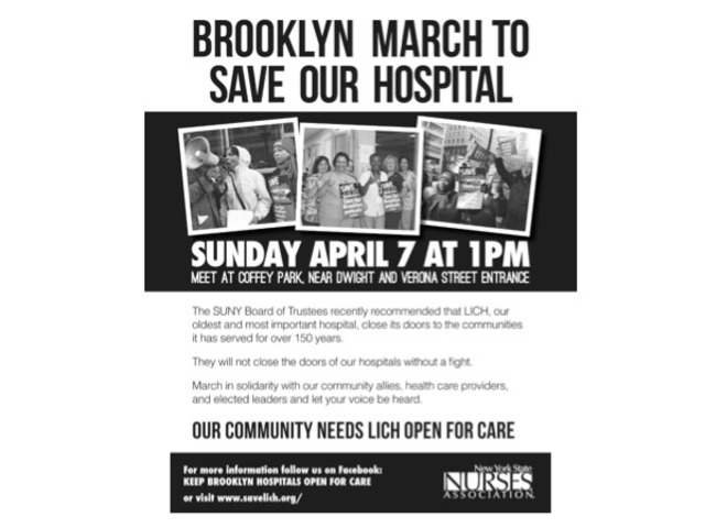 <p>Community members will march from Coffey Park to LICH on April 7, 2013.</p>