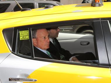The new electric cabs, unveiled on April 22, 2013, will reduce carbon emissions and make for a cleaner city, Mayor Michael Bloomberg said.