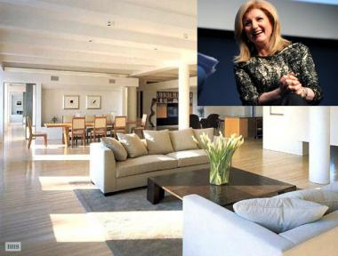 Arianna Huffington is accused of trashing the Chelsea apartment she leased from a documentary fillmmaker.