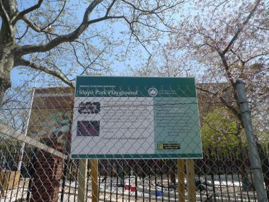Slope Park on Sixth Avenue between 18th and 19th streets won't reopen until late June, officials announced.