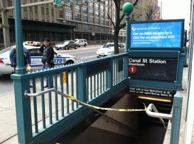 An unidentified woman died Sunday afternoon at the  Canal  Street station.