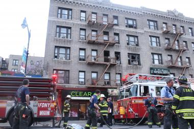 Fire officials said that the fire broke out at approximately 6:26 p.m. in apartment 3C of 152 Dyckman St.