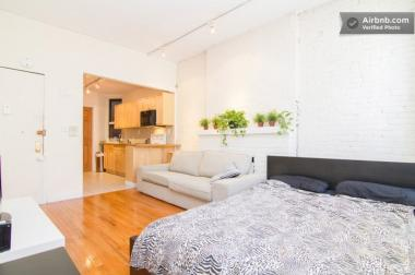 An East Village apartment listing on Airbnb.