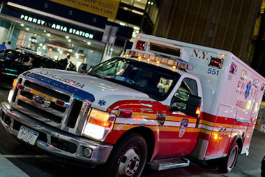 A car crash near Stuy-Town left four people seriously injured Monday morning, the FDNY said.