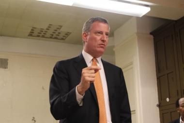 Bill de Blasio won the endorsement of the Obama Democratic Club of Upper Manhattan Monday night.