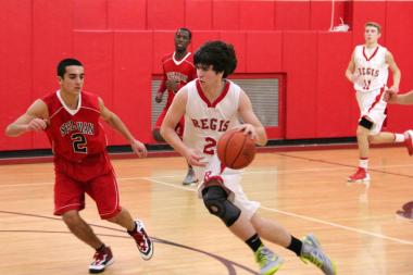 Regis sophomore Charles Gavigan led his team in scoring, averaging 12.6 points per game.