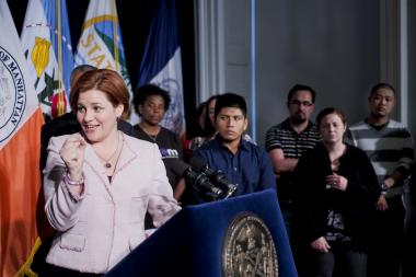 City Council Speaker and mayoral hopeful Christine Quinn revealed her struggles with bulimia and alcoholism on Tuesday.