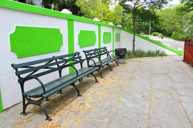 The Parks Department said it did not approve the new paint, and will repaint the park back to its original hue, which park-goers said was a dark green.