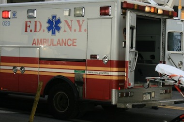 A construction worker was struck by a beam in Hell's Kitchen on Thursday.