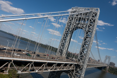 An RV fire snarled traffic on the George Washington Bridge on June 20, 2013.