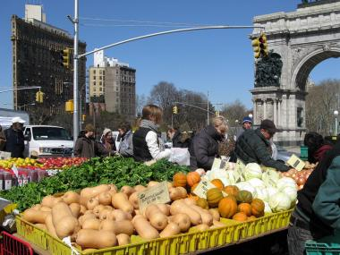 Wednesday marked the kick-off for the Bartel-Pritchard Square greenmarket; P.S. 154's opens on May 19.