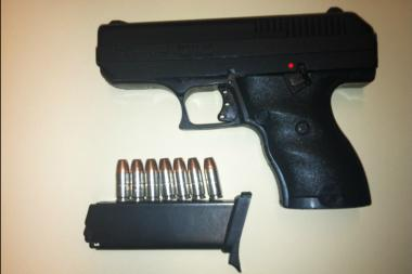 NYPD Sgt. Kevin Brennan recovered this 9mm handgun from a home invasion suspect May 28, 2013.
