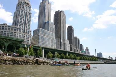 The Downtown Boathouse has been running a free kayak program at West 72nd Street for 10 years, and also runs similar programs in Hudson River Park.