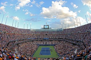 Arthur Ashe Stadium at the National Tennis Center in Flushing Meadows Corona Park.