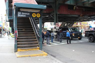 Riders Alliance Western Queens volunteers are pushing for subway station repairs and better bus service.