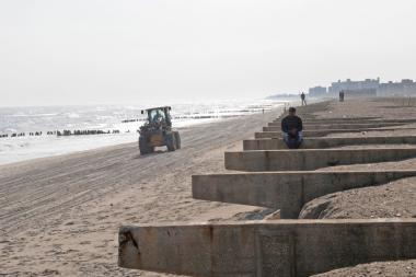 The Rockaway Beach boardwalk, which was destroyed by Hurricane Sandy.