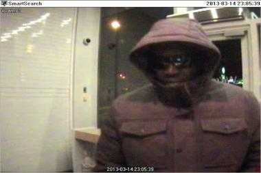 Police are looking for this man, wanted for allegedly using a fraudulent Discover card to make a purchase from Lowe's and withdraw money from an ATM on Staten Island in March.