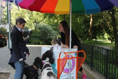 The cart will be the first to sell ice cream to dogs in New York City parks.