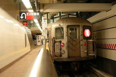 A man was attacked by a group of 12 men on the 1 train, police said.