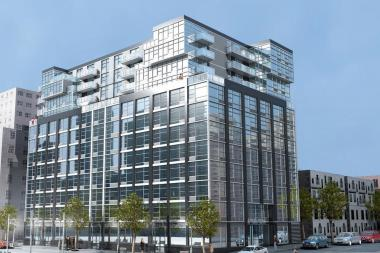 "A rendering of 267 Sixth St., a new ""luxury"" rental building on Fourth Avenue, where studios will rent for $2,100."