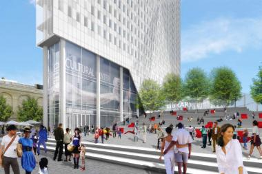 A rendering of the proposed BAM South development in Downtown Brooklyn.