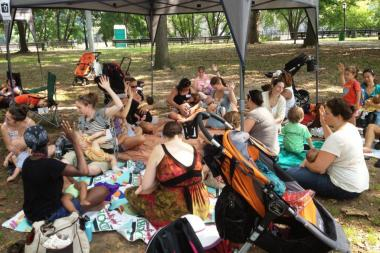 Dozens of Mothers will breastfeed for 60 seconds at Inwood Hill Park on Aug. 3.