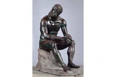 """The Boxer"" will be on display at the Met until July 15, 2013 as part of a special loan."