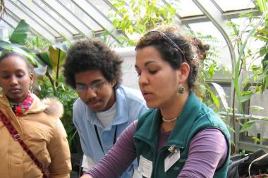 A composting workshop at Brooklyn Botanical Garden.