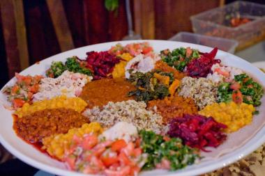 Bunna Cafe's vegan Ethiopian food has earned praise.