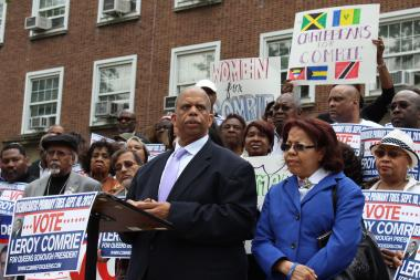 After dropping out of the race for Queens Borough President last month, Councilman Leroy Comrie decided to endorse Melinda Katz.