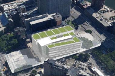 If built, the proposed sanitation garage would sit midblock on East 25th Street between First Avenue and FDR Drive.