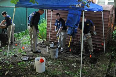 FBI search Jimmy Burke's house in Ozone Park, Queens on June 17, 2013.