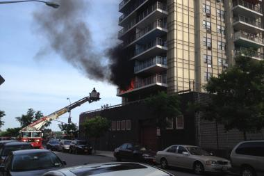 A fire on June 22, 2013 set a Washington Heights building ablaze.