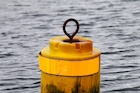 Floating buoy in water