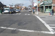 DOT Recommends Axing Parking Spaces to Make Forest Hills Intersection Safer