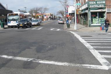 The measures proposed by the DOT for the intersection of Metropolitan and 71st avenues include relocating a bus stop and adding a turn lane.