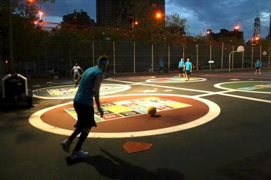 A kickball tournament brings screaming adults and loud generators to P.S 142, nearby residents say.