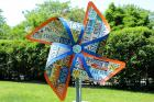 LA-Based Artist Michael Kaliff Brings License Plate Pinwheels to Pratt