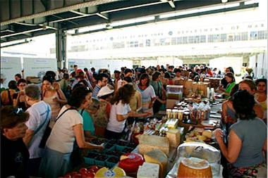 The New Amsterdam Market in 2012. The market will be open monthly during the 2014 season.