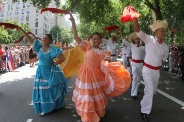 Thousands turned out to watch the largest celebration of Puerto Rican Heritage at the annual parade on June 9, 2013.