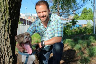 Homeless after his owner left Astoria for the Army, Sinatra was adopted last week by a Greenpoint man.