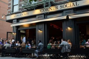 Corner Social, along with Boulevard Bistro, Chez Lucienne, Cove Lounge, Native Restaurant, Red Rooster Harlem, Ristorante Settepani and Sylvia's Restaurant will be participating in the sidewalk cafe crawl known as Summer Sizzles on Lenox.