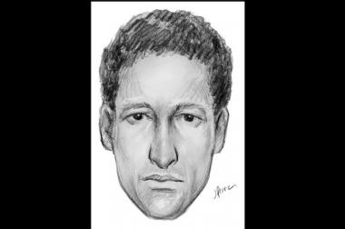 NYPD released this sketch of the man suspect of raping a woman in Greenpoint on June 16, 2013.