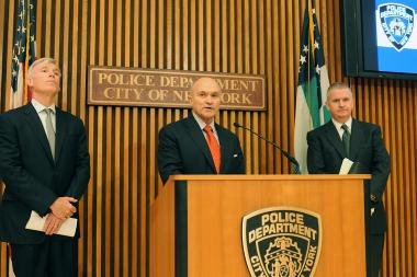 Police Commissioner Ray Kelly speaks at police headquarters about an independent review into the how the NYPD audits its crime statistics, July 2, 2013.