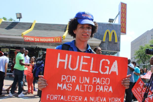 Workers Rally Outside Bronx McDonald's for Higher Pay and ...