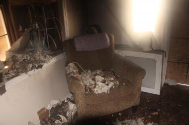 An intruder set torched and burglarized Mary Roberts Center Place home, three months after she finished repairs from Hurricane Sandy, family said. Family started a fundraiser online to raise $10,000 for repairs.